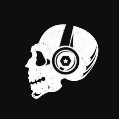 music skull logo,skull logo,vector logo template