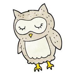 textured cartoon owl