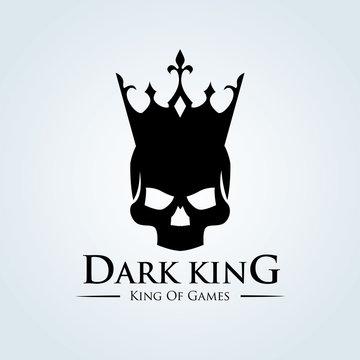 Dark king, Skull vector logo template
