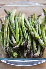 Juicy green asparagus