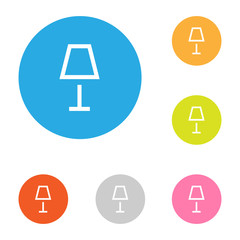 Lamp and idea icon flat