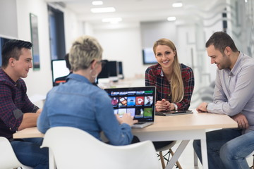 startup business team on meeting at modern office