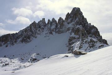 Ciaspole in val Pusteria tra Tre Scarperi - Croda dei Toni - Cima Una e Tre Cime di Lavaredo