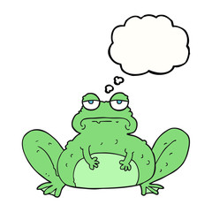 thought bubble cartoon frog