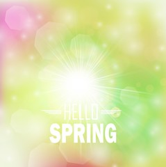 Spring Bright bokeh background