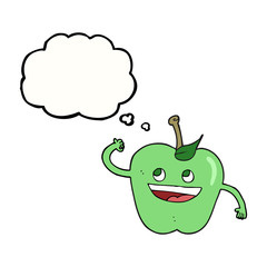 thought bubble cartoon apple