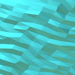 turquoise background of triangles
