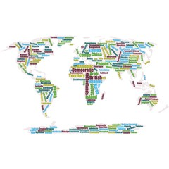 World in tag cloud