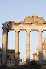 photo glimpse of the Roman Forum. Italy Rome