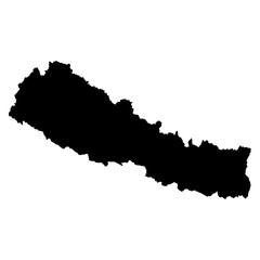 Nepal map on white background vector