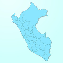Peru blue map on degraded background vector