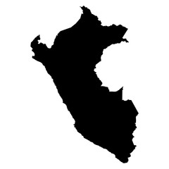Peru map on white background vector