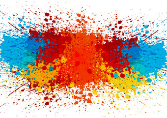 Photo sur Plexiglas Forme abstract splatter color background. illustration vector design