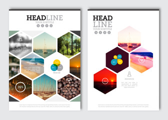 Business brochure design template. Vector flyer layout, blur background with elements for magazine, cover, poster design. A4 size. Wall mural