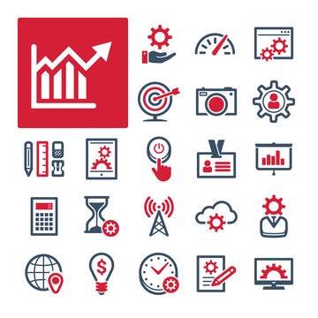 A selection of icons related to Office, Productivity and Communication (Part 1).