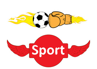 Sport boxing and soccer