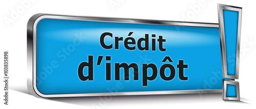 Cr dit d 39 imp t sur panneau bleu fichier vectoriel libre - Credit d impot sur photovoltaique ...