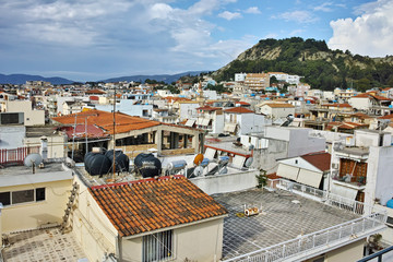Panoramic view of Zakynthos city, Ionian islands, Greece