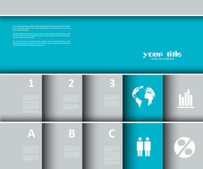 Website / Presentation / Infographic template.