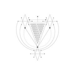 Vector magic alchemy symbol. geometric logo for spirituality, occultism, tattoo art and print. ideal for imagination, magic, creativity