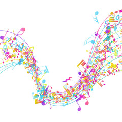 Multicolor Musical Design