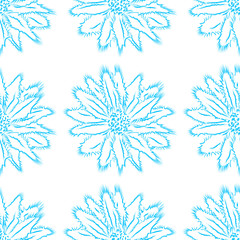 Floral ornament on a light background, seamless pattern.