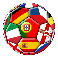 Ball with various flags