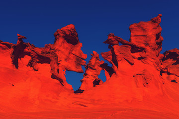 Photo sur Toile Rouge Sandstone formations