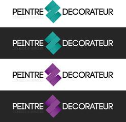 logo peintre décorateur conseil violet turquoise