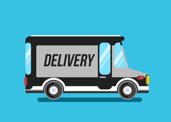 Delivery truck vector illustration. Express delivery car.