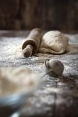 Preparation of dough to make bread