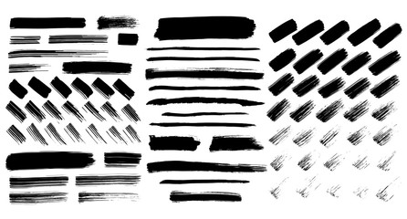 Black paint strokes collection