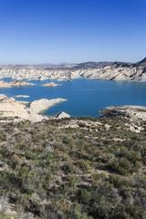 Reservoir. Paisaje de Gebas, Sierra de La Muela, Región de Murcia, Spain.