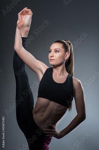 Pretty gymnast