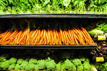 スーパーマーケットの野菜