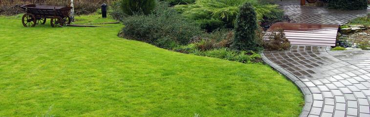 Garden landscape in spring