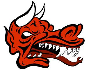 Demon Dragon Face Creature