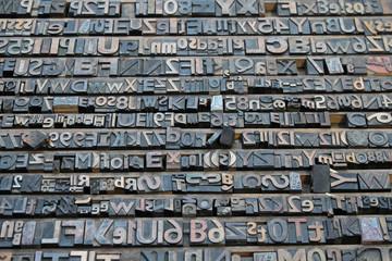 Vintage Printer Letters