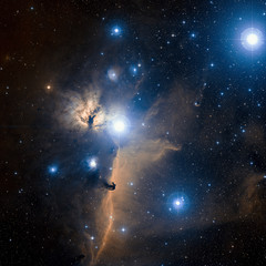Stars nebula in space. Elements of this image furnished by NASA