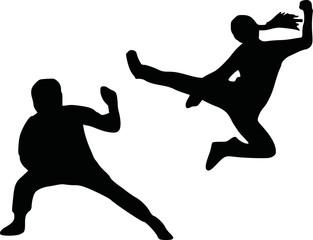 Kungfu silhouette