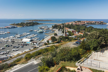 Panoramic view of Port of Sozopol Town, Burgas Region, Bulgaria