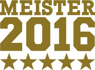 Champion 2016 with stars german