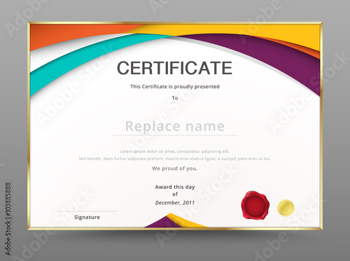 Diploma certificate template design with internation print scale diploma certificate template design with internation print scale stock image and royalty free vector files on fotolia pic 103885895 yadclub Gallery
