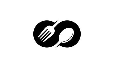 Infinity food logo design inspiration