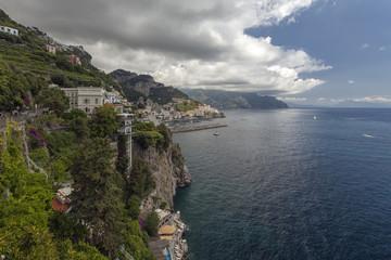 View to Amalfi coast, Campania, Italy