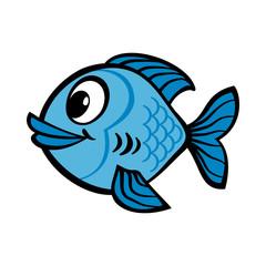 Fish cartoon vector icon