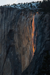 FireFall in Yosemite National Park USA