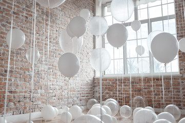 White And Transparent Balloons