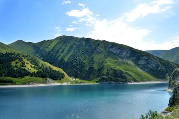 Blue lake in the Caucasus