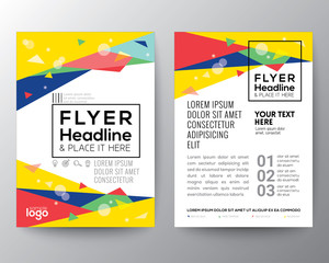 Abstract 80's style Triangle shape Poster Brochure Flyer design